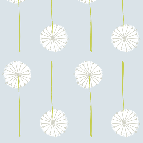 ash dandelion fabric by shindigdesignstudio on Spoonflower - custom fabric