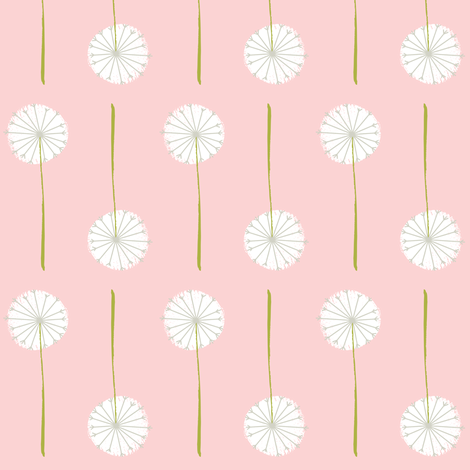 pink_dandelion fabric by shindigdesignstudio on Spoonflower - custom fabric