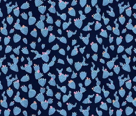 Flowering Cacti fabric by mayabeeillustrations on Spoonflower - custom fabric
