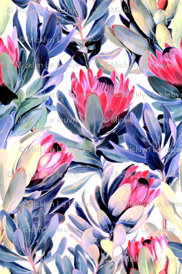 Painted Protea Floral - light version