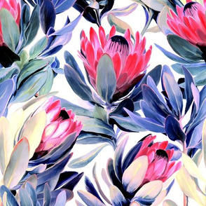 Painted Protea Floral - light version