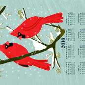 2016 Cardinals Tea Towel Calendar by Andrea Lauren