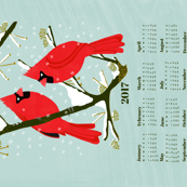 2017 Cardinals Tea Towel Calendar by Andrea Lauren