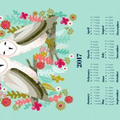 2017 Barn Owls Tea Towel Calendar by Andrea Lauren