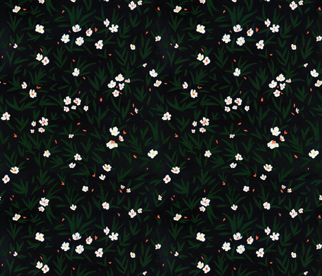 Dark Florals fabric by mayabeeillustrations on Spoonflower - custom fabric