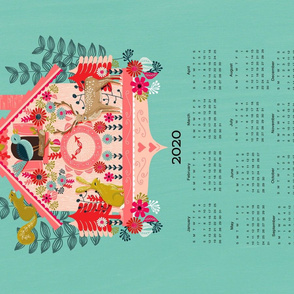 2020 Cuckoo Tea Towel Calendar by Andrea Lauren