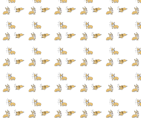Welsh Corgi Playful Puppy fabric by nhdesigns on Spoonflower - custom fabric