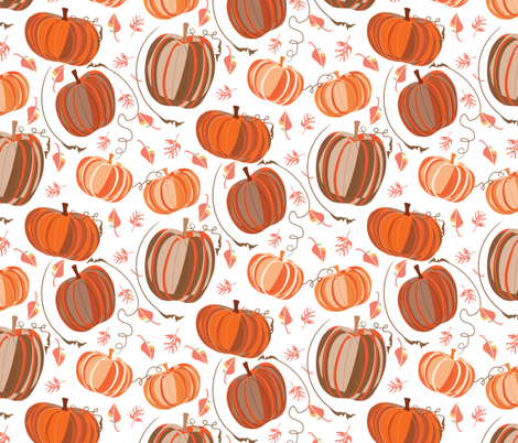 Pumpkin Spice and Everything Nice fabric by pixabo on Spoonflower - custom fabric