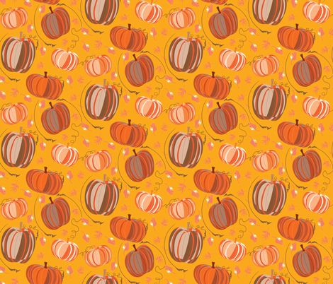 Pumpkin Spice on Saffron fabric by pixabo on Spoonflower - custom fabric