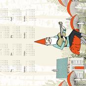 2018 Gnome Tea Towel Calendar by Andrea Lauren