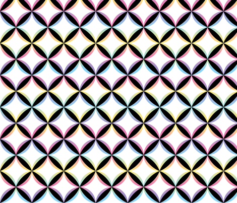 Psychadelic Cathedral cheater's cloth fabric by fruitsaladstudios on Spoonflower - custom fabric