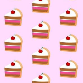 Cherry Cake Slice Light Pink