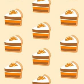 Orange Cake Slice Peach Color
