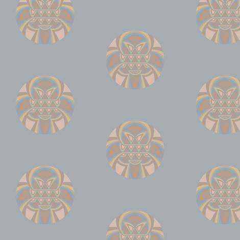 Tribal Pattern Beach Dot fabric by gingezel on Spoonflower - custom fabric