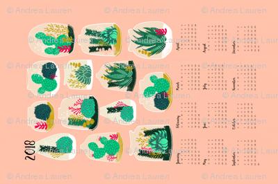 2018  Terrarium Tea Towel Calendar by Andrea Lauren