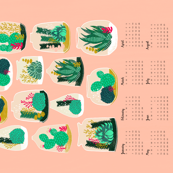 2018  Terrarium Tea Towel Calendar by Andrea Lauren