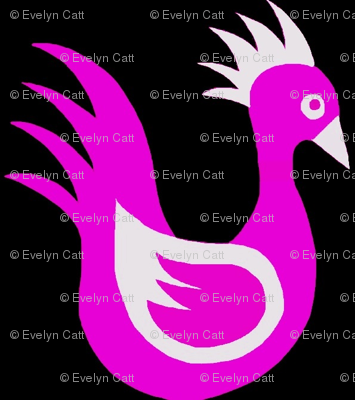 Duck Dance Bright Purple White