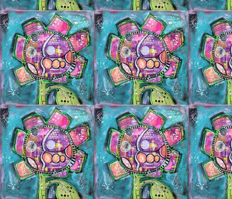 Urban Flower fabric by perkynihilist on Spoonflower - custom fabric