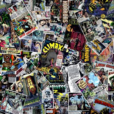 vintage comic book horror - LARGE PRINT