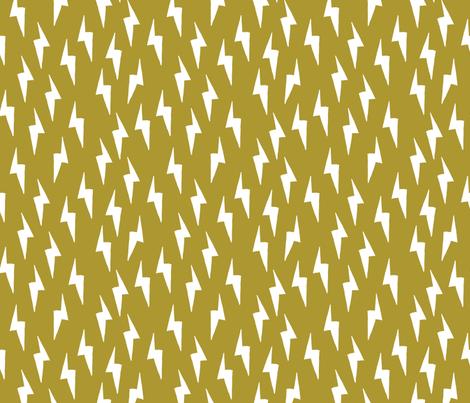 Bolt - Golden Olive by Andrea Lauren  fabric by andrea_lauren on Spoonflower - custom fabric