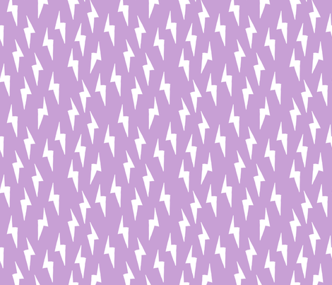Bolt - Lilac by Andrea Lauren  fabric by andrea_lauren on Spoonflower - custom fabric