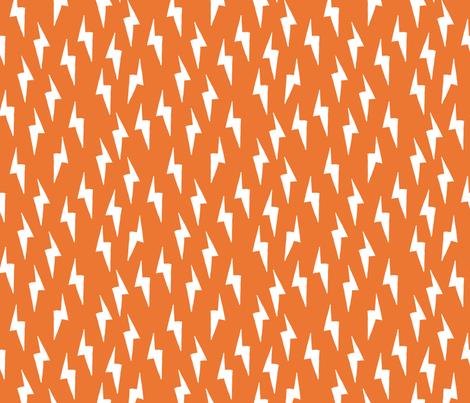 Bolt - Tangelo Orange by Andrea Lauren  fabric by andrea_lauren on Spoonflower - custom fabric