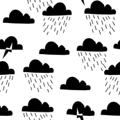 Rain Clouds - Black and White by Andrea Lauren