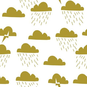Rain Clouds - Golden Olive by Andrea Lauren