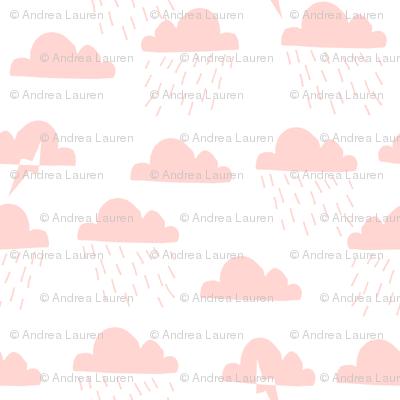 Rain Clouds - Rose Pink by Andrea Lauren