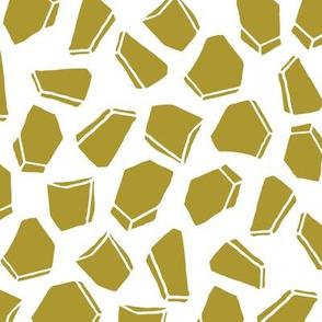 Space Rocks - Golden Olive by Andrea Lauren