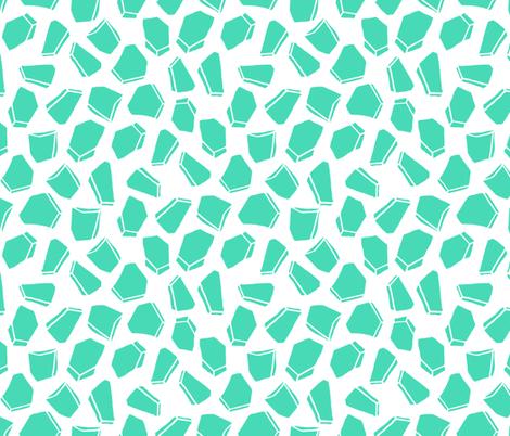 Space Rocks - Light Jade by Andrea Lauren fabric by andrea_lauren on Spoonflower - custom fabric