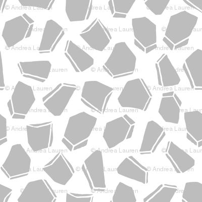 Space Rocks - Slate Grey by Andrea Lauren
