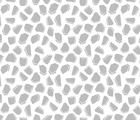 Space Rocks - Slate Grey by Andrea Lauren fabric by andrea_lauren on Spoonflower - custom fabric