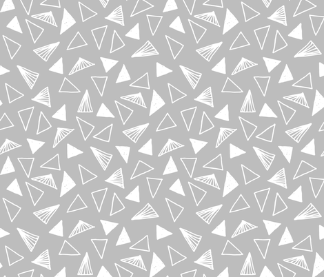 Hand Drawn Triangles - Slate Grey by Andrea Lauren fabric by andrea_lauren on Spoonflower - custom fabric
