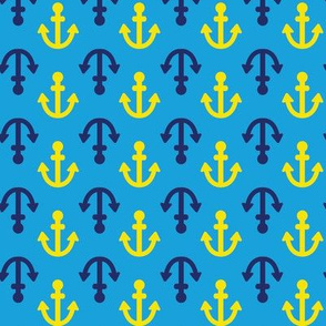 Coastie Anchors: Blue, Navy and Yellow