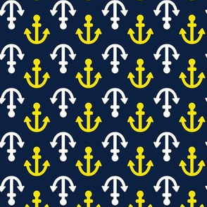 Coastie Anchors : Navy, White, Yellow