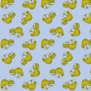 Ditsy Chameleon Blue