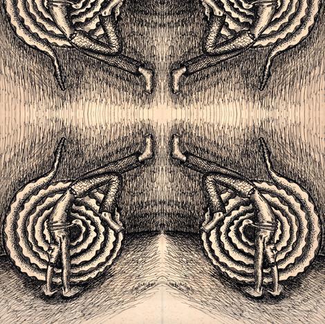 Man and Snake Cartoon fabric by lazella_rosetta on Spoonflower - custom fabric