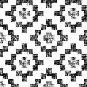 Black on white weave geometric West by Southwest by Su_G_©SuSchaefer