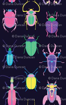 Pop Art Beetles Dark
