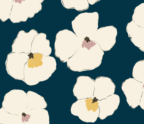 Warhol Garden - indigo -  fabric by frumafar on Spoonflower - custom fabric