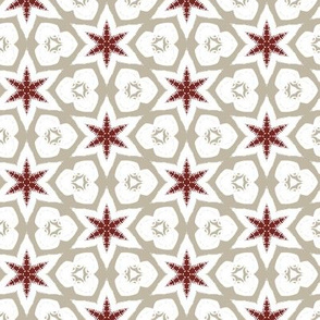 Christmas Geometric in Grey, White and Red