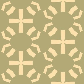Green and Cream Scallops