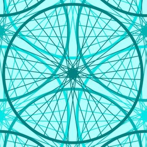04658437 : wheels of teal : cyan cycle