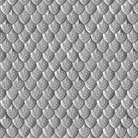 Scales Dragon Armor Silver fabric by wickedrefined on Spoonflower - custom fabric