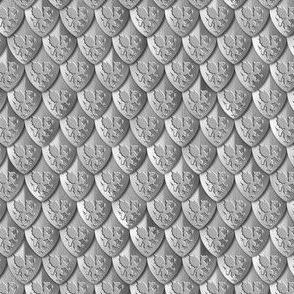 Scales Dragon Armor Silver