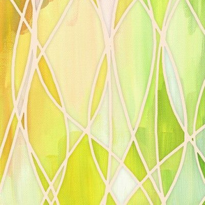 Lemon and Lime Abstract Painting with texture