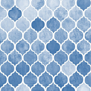 Textured Blue Moroccan
