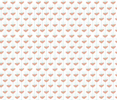 Flower Hearts in white fabric by leeleejack on Spoonflower - custom fabric
