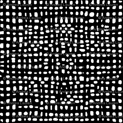 Weave - Black and White Simple Minimal Grid by Andrea Lauren